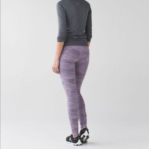 Lululemon Speed Tight IV Purple Space Dye Size 8